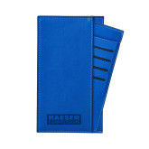 Parker Blue RFID Travel Wallet-Kaeser Primary Mark Engraved