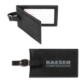 Sorano Black Luggage Tag-Kaeser Compressors Engraved