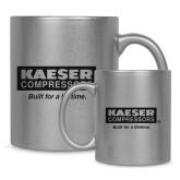 Full Color Silver Metallic Mug 11oz-Kaeser w tagline