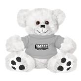 Plush Big Paw 8 1/2 inch White Bear w/Grey Shirt-Kaeser w tagline