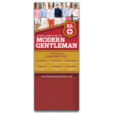33.5 x 80 Vertical Banner including Silver Retractable Banner Stand-Recruitment Banner