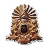 Medium Decal-Coat of Arms Emblem, 8 inches tall