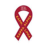 Ribbon Decal-KA, 8 in tall, 4.2 in wide