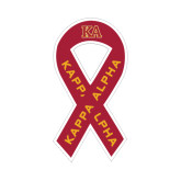 Ribbon Decal-Two Color KA, 8 in tall, 4.2 in wide