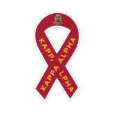 Ribbon Decal-Coat of Arms Emblem, 8 in tall, 4.2 in wide