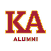 Alumni Decal-Two Color KA, 6 inches wide