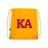 Gold Drawstring Backpack-KA