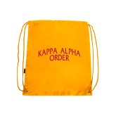 Gold Drawstring Backpack-Arched Kappa Alpha Order