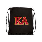 Black Drawstring Backpack-Two Color KA