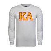 White Long Sleeve T Shirt-Two Color KA
