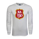 White Long Sleeve T Shirt-KA 150 Shield