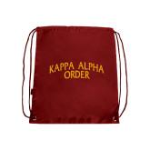 Cardinal Drawstring Backpack-Arched Kappa Alpha Order