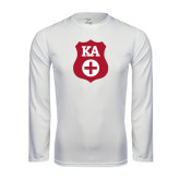 Syntrel Performance White Longsleeve Shirt-KA Shield