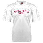 Replica White Adult Football Jersey-Arched Kappa Alpha