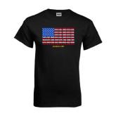Black T Shirt-Typographic Flag