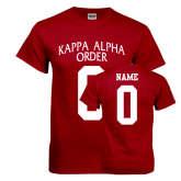 Cardinal T Shirt-Kappa Alpha Custom Tee w/ Name & Number