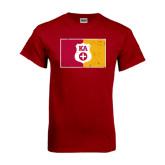 Cardinal T Shirt-KA Flag w/ Shield Distressed