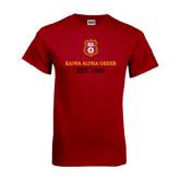 Cardinal T Shirt-Stacked Kappa Alpha Order Est. 1865