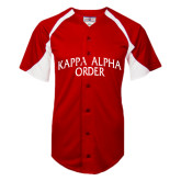 Replica Red Adult Baseball Jersey-Arched Kappa Alpha