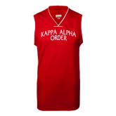 Replica Red Adult Basketball Jersey-Arched Kappa Alpha