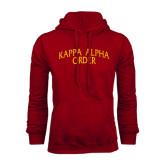 Cardinal Fleece Hoodie-Arched Kappa Alpha Order