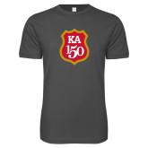 Next Level SoftStyle Charcoal T Shirt-KA 150 Shield