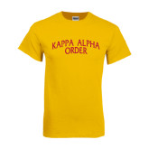 Gold T Shirt-Arched Kappa Alpha Order