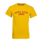 Gold T Shirt-Arched Kappa Alpha Order