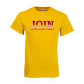 Gold T Shirt-Join Kappa Alpha Order