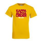 Gold T Shirt-Bid Day Block Type