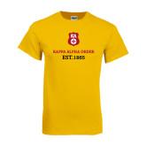 Gold T Shirt-Stacked Kappa Alpha Order Est. 1865