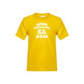 Youth Gold T Shirt-Future Kappa Alpha Rose