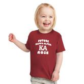 Toddler Cardinal T Shirt-Future Kappa Alpha Rose