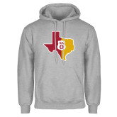 Grey Fleece Hoodie-Texas