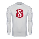 Under Armour White Long Sleeve Tech Tee-KA Shield