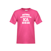 Youth Cyber Pink T Shirt-Future Kappa Alpha Rose