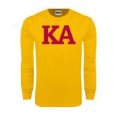 Gold Long Sleeve T Shirt-KA