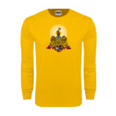 Gold Long Sleeve T Shirt-Coat of Arms