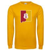 Gold Long Sleeve T Shirt-New Mexico