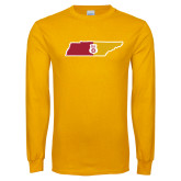 Gold Long Sleeve T Shirt-Tennessee