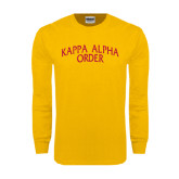 Gold Long Sleeve T Shirt-Arched Kappa Alpha Order