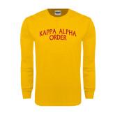 Gold Long Sleeve T Shirt-Arched Kappa Alpha Order
