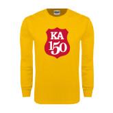Gold Long Sleeve T Shirt-KA 150 Shield