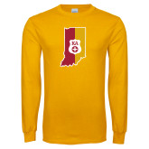 Gold Long Sleeve T Shirt-Indiana