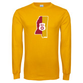 Gold Long Sleeve T Shirt-Mississippi