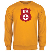 Gold Fleece Crew-KA Shield