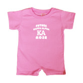 Bubble Gum Pink Infant Romper-Future Kappa Alpha Rose