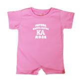 Bubble Gum Pink Infant Romper-Future Kappa Alpha Rose