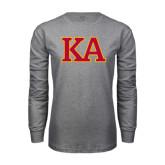 Grey Long Sleeve T Shirt-Two Color KA