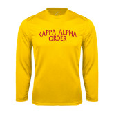 Performance Gold Longsleeve Shirt-Arched Kappa Alpha Order